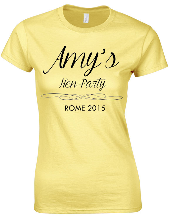 Simple Hen Tee 3 | Hen Party | Group T-Shirts