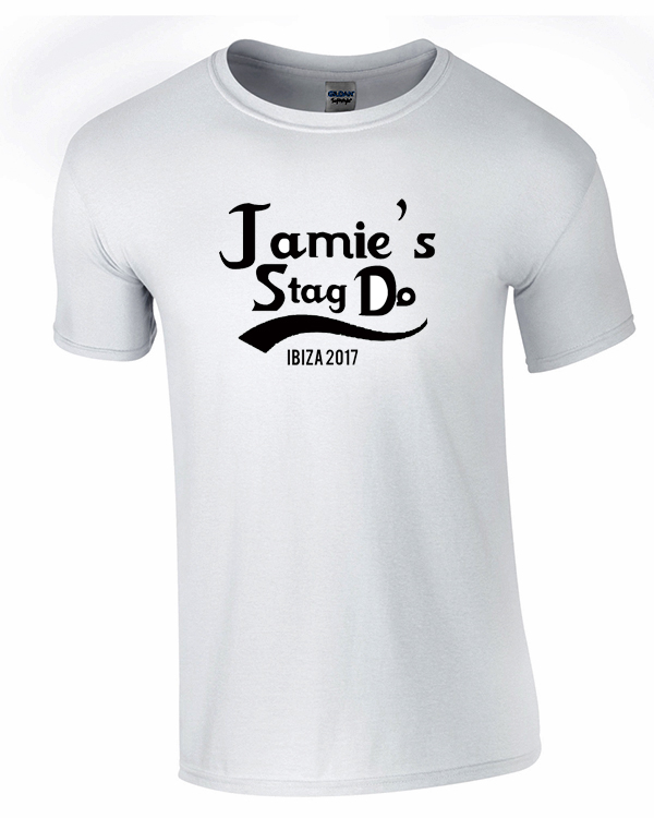 Simple Text Tee 1 | Stag Party | Group T-Shirts